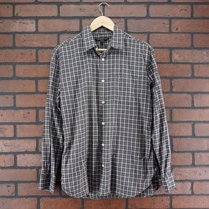 JOHN VARVATOS Plaid Button Up Shirt Size Small